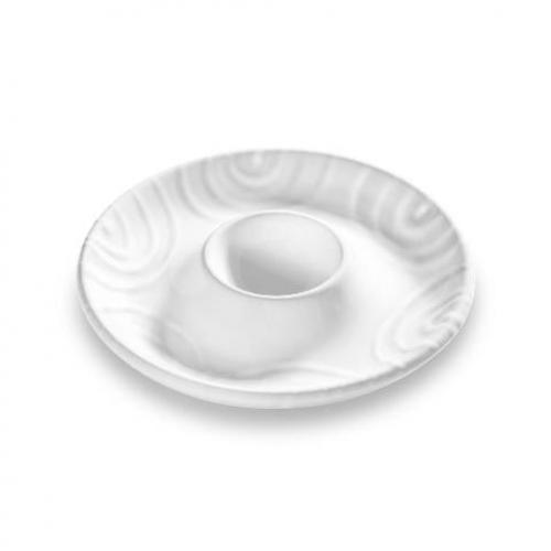 """Gmundner Keramik """"Weissgeflammt"""" Eierbecher Ø 12 cm"""