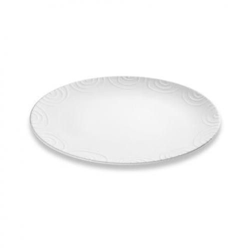 "Gmundner Keramik ""Weissgeflammt"" Platte oval 33 x 26 cm"