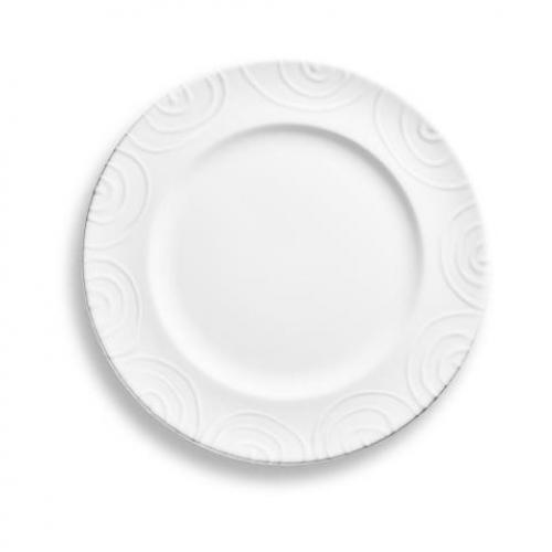 "Gmundner Keramik ""Weissgeflammt"" Speiseteller Gourmet Ø 27cm"