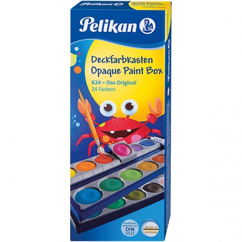 "Pelikan 720631 Deckfarbkasten ""K24"" Das Original, 24 Farben + 1 Deckweiß"