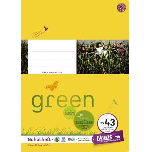 URSUS Heft A4, liniert+R, 40 Bl.
