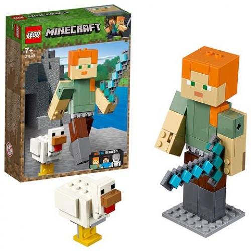 LEGO 21149 Minecraft - BigFig Alex mit Huhn