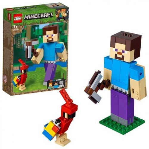 LEGO 21148 Minecraft - BigFig Steve mit Papagei