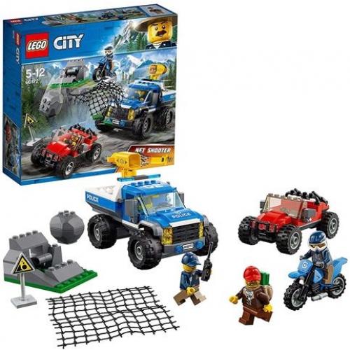LEGO 60172 City - Bergpolizei Verfolgungsjagd auf Schotterpisten