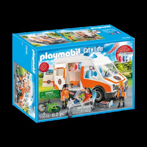 PLAYMOBIL 70049 - Rettungswagen mit Licht und Sound