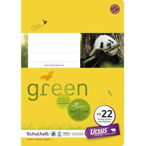 URSUS Heft A5, liniert, 40 Bl.