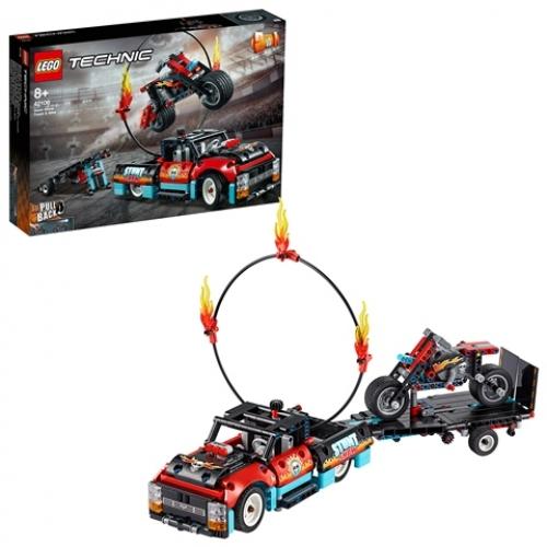 LEGO 42106 Technic - Stunt-Show mit Truck und Motorrad