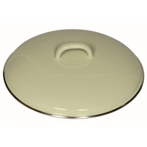Riess Emaille Deckel mit Chromrand, Ø 22cm (nilgrün)
