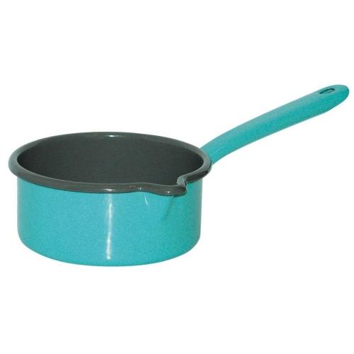Riess KELOmat Design Stielkasserolle, Ø 14cm, 0,75 Lt  (fresh sky blue)