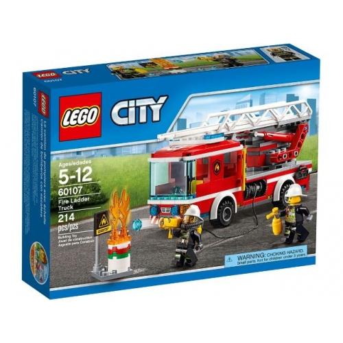 Lego 60107 CITY - Feuerwehrfahrzeug mit fahrbarer Leiter