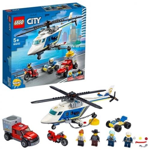 LEGO 60243 City -  Verfolgungsjagd mit dem Polizeihubschrauber
