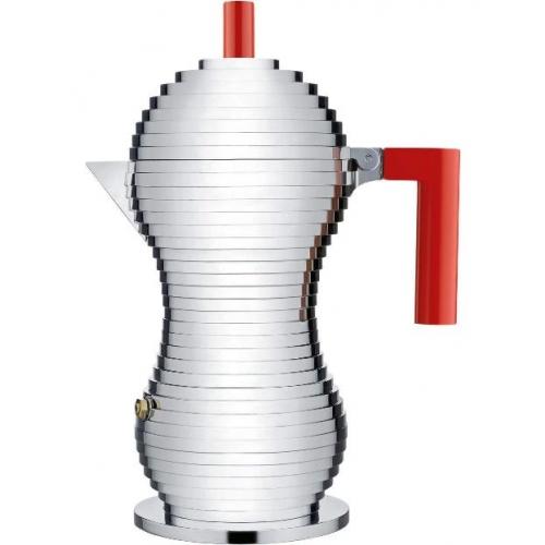 """Alessi Espresso Maschine """"Pulcina"""" 150ml (für 6 Tassen), rot"""