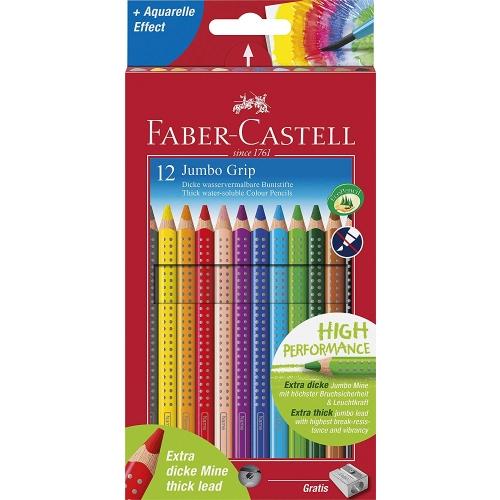 "Faber-Castell 110912 Buntstifte ""Jumbo Grip"" 12er, im Kartonetui"