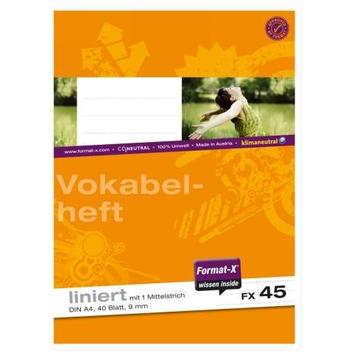 URSUS Heft A4, liniert+1MST, 40 Bl.