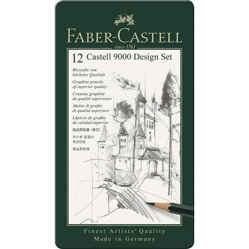 Faber-Castell 119064 Castell 9000 Design Set, 12-teilig
