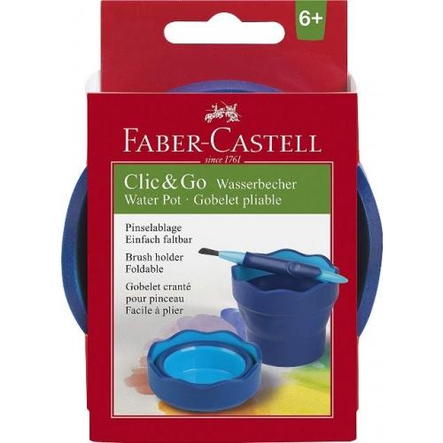 """Faber Castell Wasserbecher """"Clic&Go"""" blau"""