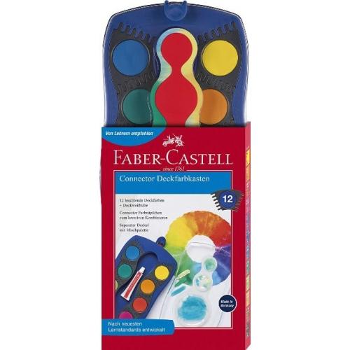 Faber Castell Connector Deckfarbkasten 12er blau