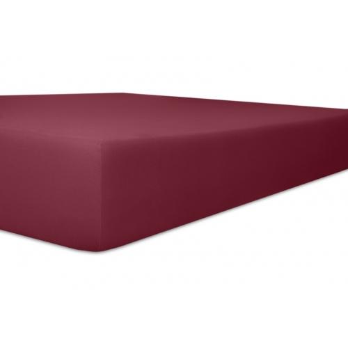 Kneer 50 Fein-Jersey Stretch-Betttuch 90x200cm burgund