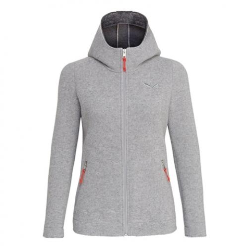 SALEWA Sarner 2 Lagen Wool Full-Zip Da. Hoody + GRATIS Mütze