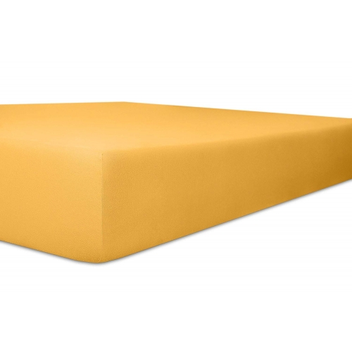 Kneer 50 Fein-Jersey Stretch-Betttuch 140x200cm gelb