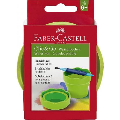 """Faber Castell Wasserbecher """"Clic&Go"""" grün"""