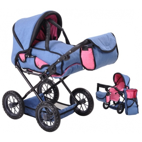 KNORR TOYS Puppenwagen Ruby (Farbe: jeans blue)