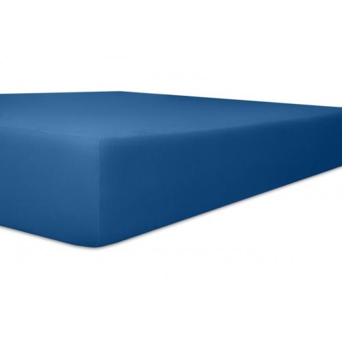 Kneer 50 Fein-Jersey Stretch-Betttuch 90x200cm kobalt