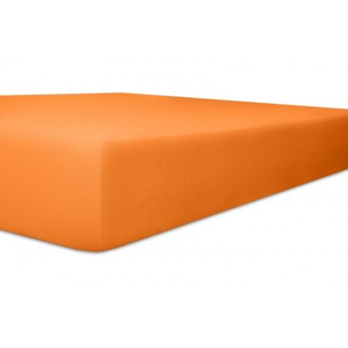 Kneer 50 Fein-Jersey Stretch-Betttuch 90x200cm orange