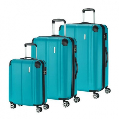 TRAVELITE 3er Trolley Set City (Petrol)
