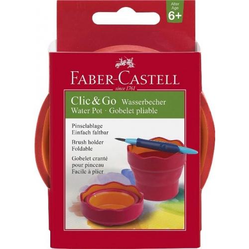 """Faber Castell Wasserbecher """"Clic&Go"""" rot"""