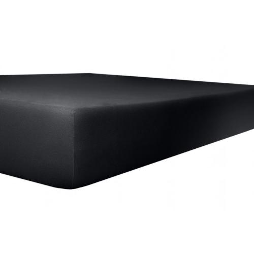 Kneer 50 Fein-Jersey Stretch-Betttuch 140x200cm schwarz