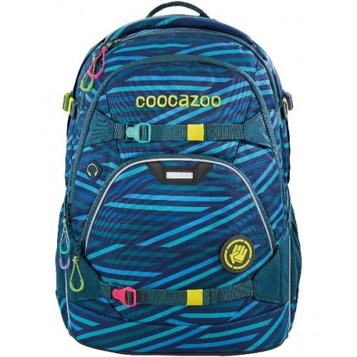 """COOCAZOO Schulrucksack """"ScaleRale"""" größenverstellbar (Zebra Stripe Blue)"""